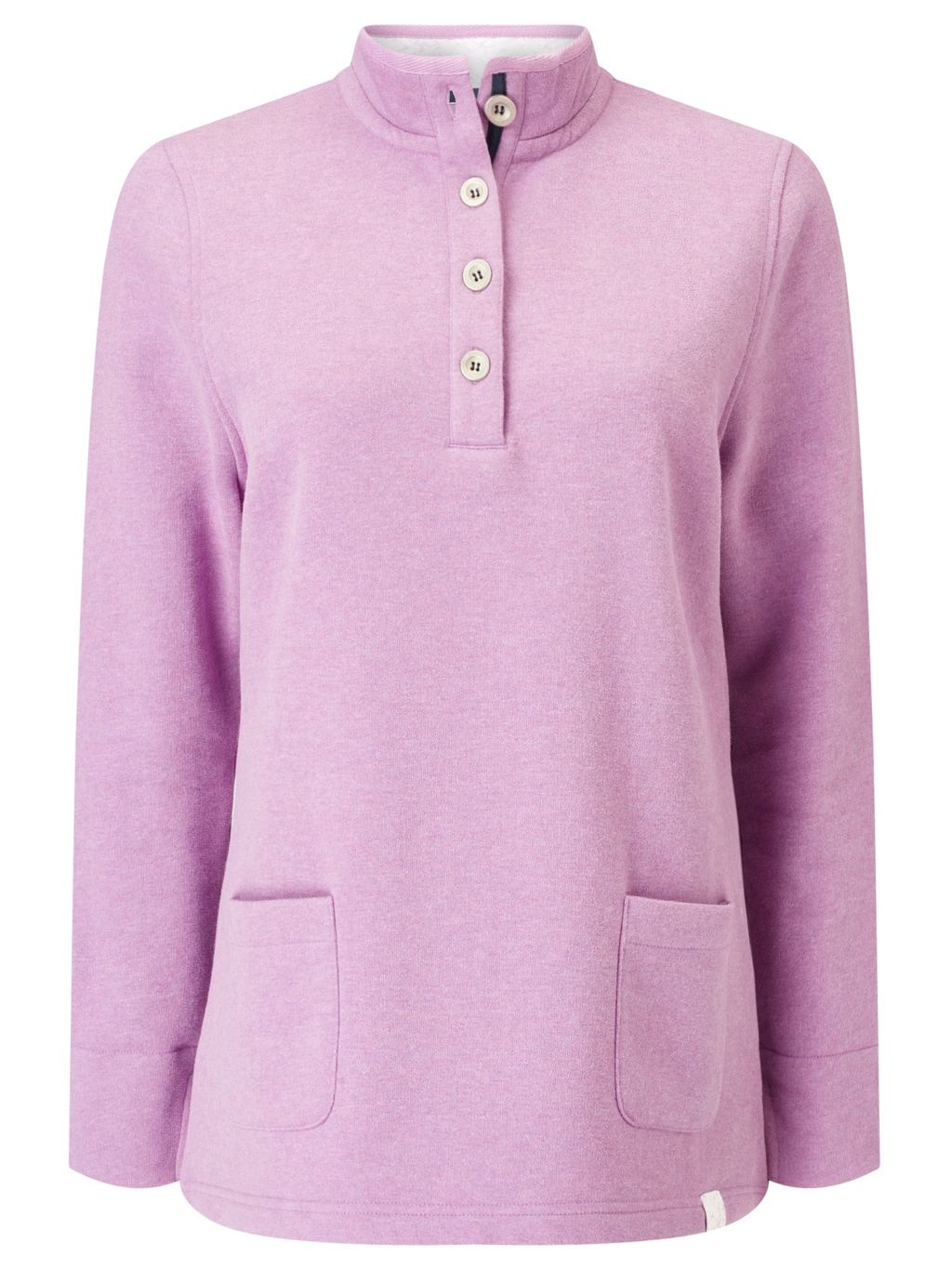 Orchid Marl Funnel, Pink - pattern: plain; neckline: high neck; predominant colour: pink; occasions: casual; length: standard; style: top; fibres: cotton - mix; fit: body skimming; hip detail: subtle/flattering hip detail; sleeve length: long sleeve; sleeve style: standard; pattern type: fabric; texture group: jersey - stretchy/drapey; season: s/s 2016; wardrobe: highlight; embellishment location: bust
