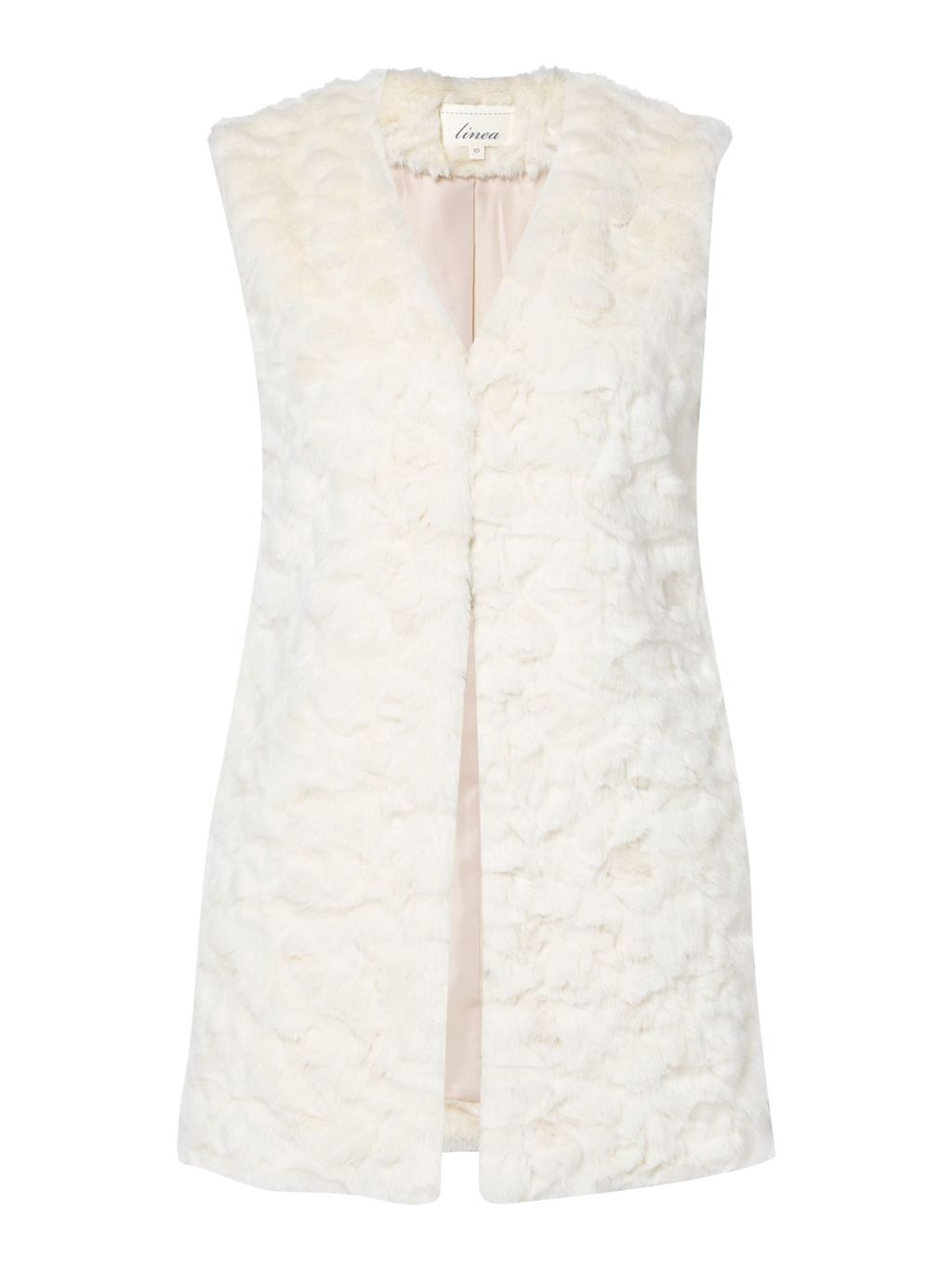 Limited Faux Fur Gilet, Ivory - pattern: plain; sleeve style: sleeveless; style: gilet; collar: round collar/collarless; length: below the bottom; predominant colour: ivory/cream; occasions: casual; fit: straight cut (boxy); fibres: acrylic - 100%; sleeve length: sleeveless; texture group: fur; collar break: medium; pattern type: fabric; season: s/s 2016; wardrobe: highlight