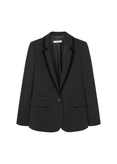 Textured Wool Blazer - pattern: plain; style: single breasted blazer; collar: standard lapel/rever collar; predominant colour: black; occasions: work; length: standard; fit: tailored/fitted; fibres: wool - 100%; sleeve length: long sleeve; sleeve style: standard; collar break: low/open; pattern type: fabric; texture group: other - light to midweight; season: s/s 2016; wardrobe: investment