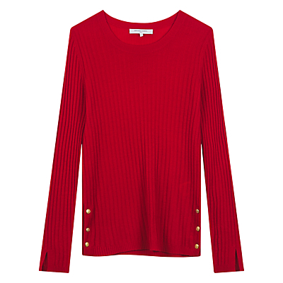 Stinson Jumper, Red - neckline: round neck; pattern: plain; style: standard; predominant colour: true red; occasions: casual; length: standard; fibres: wool - mix; fit: standard fit; sleeve length: long sleeve; sleeve style: standard; texture group: knits/crochet; pattern type: knitted - fine stitch; season: s/s 2016; wardrobe: highlight; trends: chunky knits