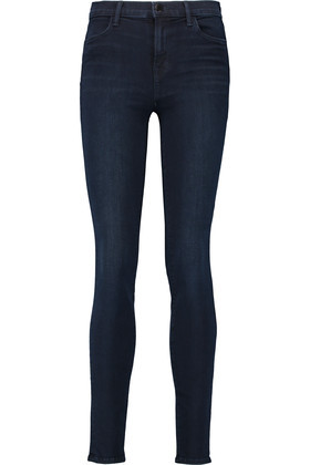 Maria High Rise Skinny Jeans Dark Denim - style: skinny leg; length: standard; pattern: plain; waist: high rise; pocket detail: traditional 5 pocket; predominant colour: navy; occasions: casual; fibres: cotton - stretch; jeans detail: dark wash; texture group: denim; pattern type: fabric; season: s/s 2016; wardrobe: basic