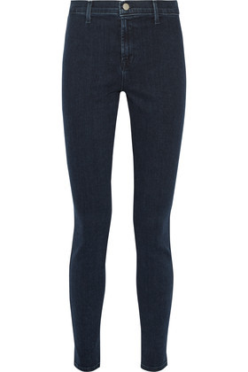 Vida High Rise Skinny Jeans Mid Denim - style: skinny leg; length: standard; pattern: plain; waist: high rise; pocket detail: traditional 5 pocket; predominant colour: navy; occasions: casual, evening, creative work; fibres: cotton - stretch; jeans detail: dark wash; texture group: denim; pattern type: fabric; season: s/s 2016; wardrobe: basic