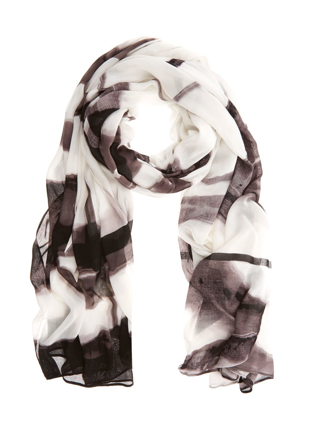 Addison Print Scarf, Multi Coloured - predominant colour: black; occasions: casual; type of pattern: heavy; style: regular; size: standard; material: fabric; pattern: patterned/print; season: s/s 2016; wardrobe: highlight