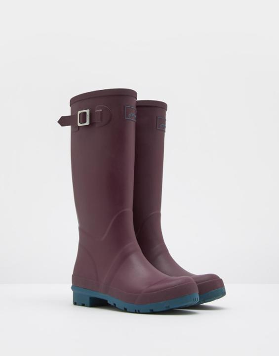 Matt Wellies Burgundy - predominant colour: purple; occasions: casual; material: plastic/rubber; heel height: flat; heel: block; toe: round toe; boot length: knee; style: wellies; finish: plain; pattern: plain; season: s/s 2016