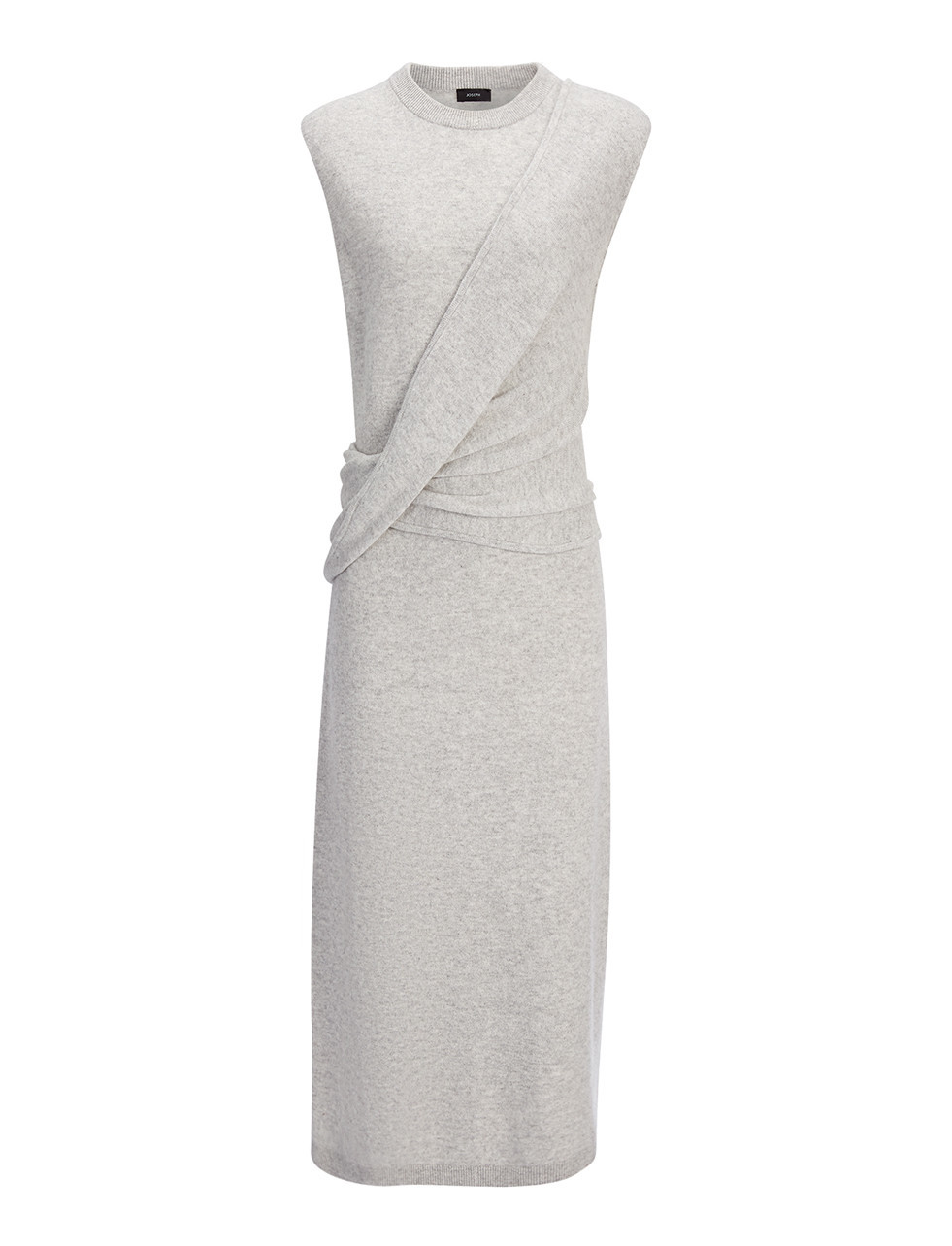 Soft Wool Feli Dress In Marble - style: shift; length: calf length; pattern: plain; sleeve style: sleeveless; neckline: high neck; bust detail: subtle bust detail; predominant colour: light grey; occasions: evening; fit: body skimming; fibres: wool - mix; sleeve length: sleeveless; texture group: knits/crochet; pattern type: fabric; season: s/s 2016; wardrobe: event