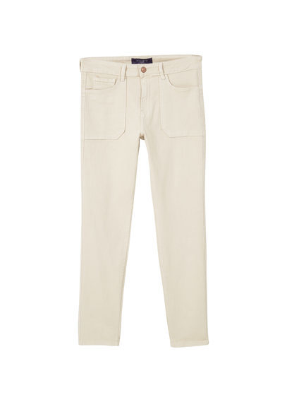 Slim Fit Caramelo Jeans - length: standard; pattern: plain; pocket detail: traditional 5 pocket; style: slim leg; waist: mid/regular rise; predominant colour: white; occasions: casual; fibres: cotton - stretch; texture group: denim; pattern type: fabric; season: s/s 2016; wardrobe: highlight