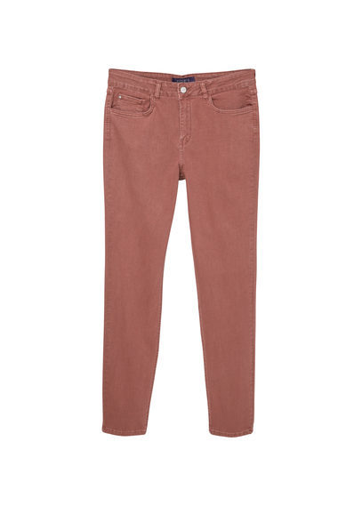 Slim Fit Petri Jeans - length: standard; pattern: plain; pocket detail: traditional 5 pocket; style: slim leg; waist: mid/regular rise; occasions: casual; fibres: cotton - stretch; texture group: denim; pattern type: fabric; predominant colour: dusky pink; season: s/s 2016; wardrobe: highlight
