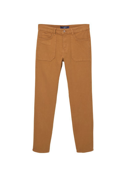 Slim Fit Caramelo Jeans - length: standard; pattern: plain; pocket detail: traditional 5 pocket; style: slim leg; waist: mid/regular rise; predominant colour: mustard; occasions: casual; fibres: cotton - stretch; texture group: denim; pattern type: fabric; season: s/s 2016; wardrobe: highlight