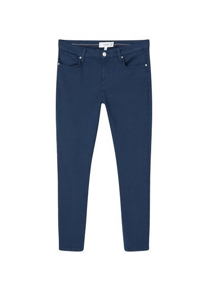 Crop Skinny Isa Jeans - style: skinny leg; length: standard; pattern: plain; pocket detail: traditional 5 pocket; waist: mid/regular rise; predominant colour: navy; occasions: casual, creative work; fibres: cotton - stretch; texture group: denim; pattern type: fabric; season: s/s 2016
