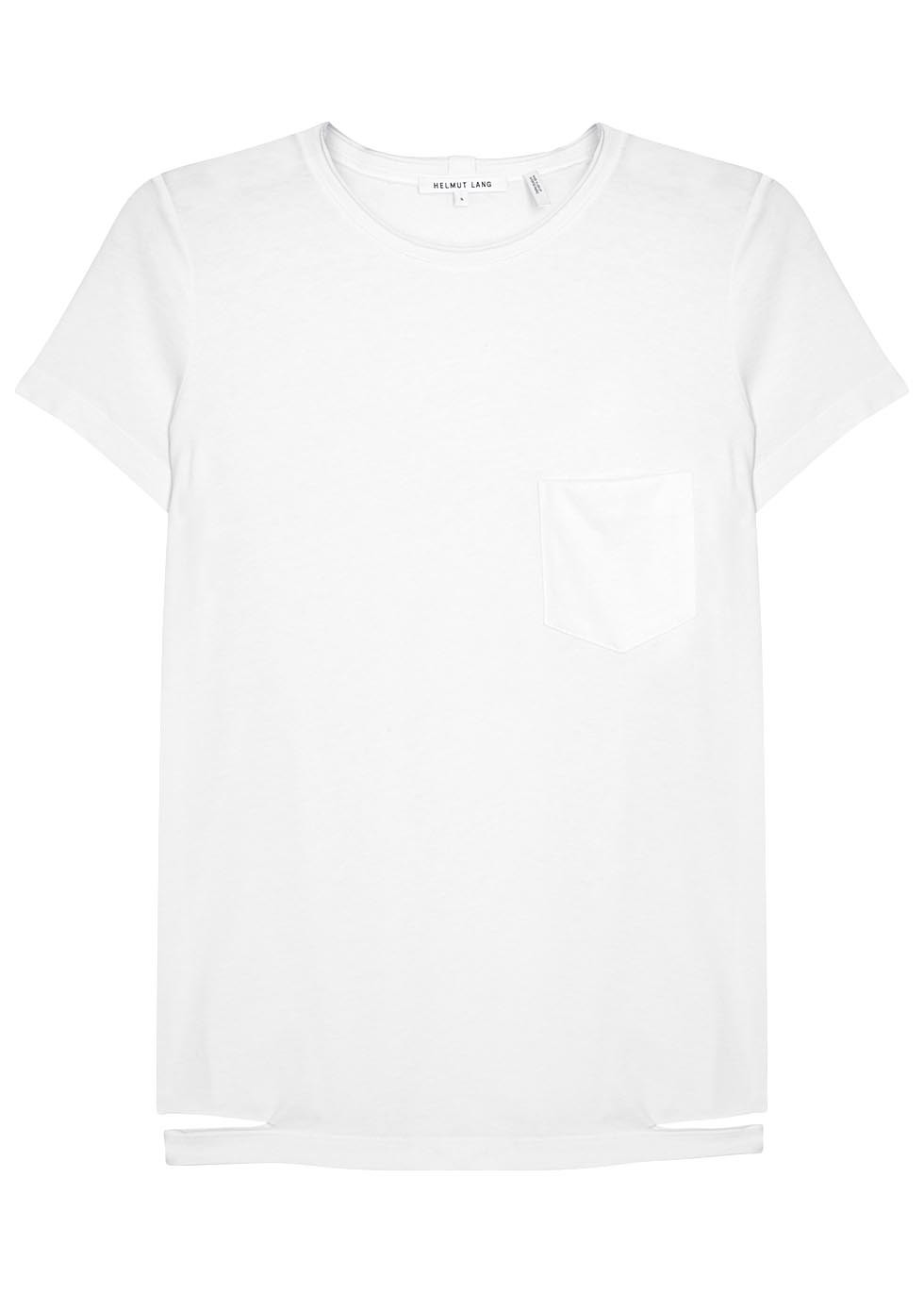 White Cut Out Cotton T Shirt - pattern: plain; style: t-shirt; predominant colour: white; occasions: casual; length: standard; fibres: cotton - 100%; fit: body skimming; neckline: crew; sleeve length: short sleeve; sleeve style: standard; pattern type: fabric; texture group: jersey - stretchy/drapey; season: s/s 2016; wardrobe: basic