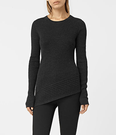 Keld Crew Neck Jumper - pattern: plain; style: standard; predominant colour: black; occasions: casual; length: standard; fibres: wool - 100%; fit: slim fit; neckline: crew; sleeve length: long sleeve; sleeve style: standard; texture group: knits/crochet; pattern type: fabric; season: s/s 2016; wardrobe: basic