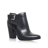 Adams Bootie - predominant colour: black; occasions: casual, creative work; material: leather; heel height: high; heel: block; toe: pointed toe; boot length: ankle boot; style: standard; finish: plain; pattern: plain; season: s/s 2016; wardrobe: highlight