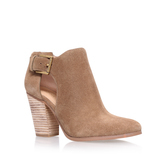 Adams Bootie - predominant colour: camel; occasions: casual; material: suede; heel height: high; heel: block; toe: pointed toe; boot length: ankle boot; style: standard; finish: plain; pattern: plain; season: s/s 2016; wardrobe: highlight