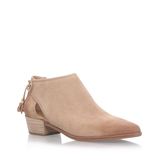 Jennings Flat Bootie - predominant colour: blush; occasions: casual, creative work; material: suede; heel height: mid; embellishment: tassels; heel: block; toe: pointed toe; boot length: ankle boot; style: standard; finish: plain; pattern: plain; season: s/s 2016