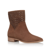 Sunny Bootie - predominant colour: tan; occasions: casual, creative work; material: suede; heel height: flat; heel: block; toe: round toe; boot length: ankle boot; style: standard; finish: plain; pattern: plain; season: s/s 2016; wardrobe: highlight