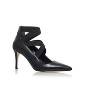 Viva Pump - predominant colour: black; occasions: evening, work, occasion; material: leather; heel height: high; heel: stiletto; toe: pointed toe; style: courts; finish: plain; pattern: plain; season: s/s 2016; wardrobe: investment