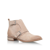 Adams Monk Strap Bootie - predominant colour: stone; occasions: casual, creative work; material: suede; heel height: mid; embellishment: buckles; heel: block; toe: round toe; boot length: ankle boot; style: standard; finish: plain; pattern: plain; season: s/s 2016; wardrobe: basic