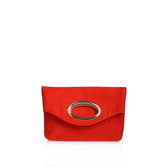 Tia - predominant colour: true red; occasions: evening; type of pattern: standard; style: clutch; length: hand carry; size: standard; material: leather; pattern: plain; finish: plain; season: s/s 2016