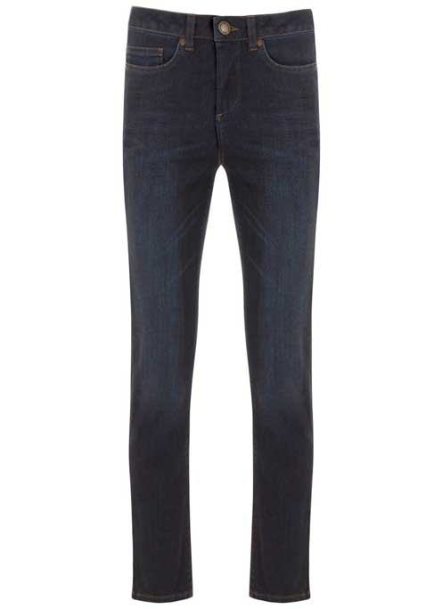 Lennox Indigo Straight Leg Jeans - style: straight leg; length: standard; pattern: plain; pocket detail: traditional 5 pocket; waist: mid/regular rise; predominant colour: navy; occasions: casual; fibres: cotton - stretch; texture group: denim; pattern type: fabric; season: s/s 2016; wardrobe: basic