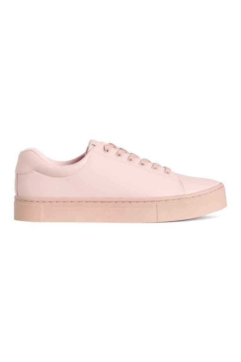Trainers - predominant colour: blush; occasions: casual; material: fabric; heel height: flat; toe: round toe; style: trainers; finish: plain; pattern: plain; shoe detail: moulded soul; season: s/s 2016; wardrobe: highlight