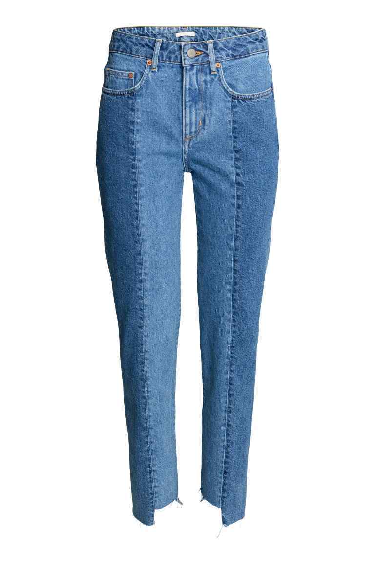 Slim Regular Ankle Jeans - pattern: plain; style: slim leg; waist: mid/regular rise; predominant colour: denim; occasions: casual; length: ankle length; fibres: cotton - stretch; texture group: denim; pattern type: fabric; season: s/s 2016