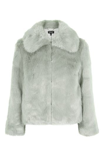 Luxe Fur Coat - pattern: plain; length: standard; predominant colour: light grey; occasions: evening, occasion, creative work; fit: straight cut (boxy); fibres: acrylic - 100%; style: fur coat; collar: shirt collar/peter pan/zip with opening; sleeve length: long sleeve; sleeve style: standard; texture group: fur; collar break: high; pattern type: fabric; trends: chic girl, glossy girl, pretty girl; season: s/s 2016; wardrobe: investment