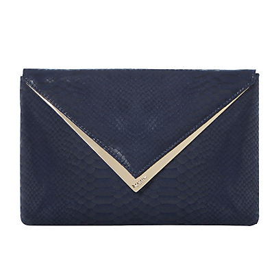 Behan Clutch Bag - predominant colour: navy; occasions: evening; type of pattern: standard; style: clutch; length: hand carry; size: standard; material: faux leather; pattern: plain; finish: patent; season: s/s 2016; wardrobe: event
