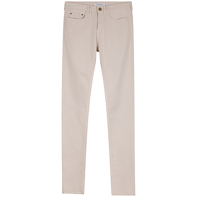 Weston Trousers - length: standard; pattern: plain; pocket detail: traditional 5 pocket; style: slim leg; waist: mid/regular rise; predominant colour: stone; occasions: casual, creative work; fibres: cotton - stretch; texture group: denim; pattern type: fabric; season: s/s 2016; wardrobe: highlight
