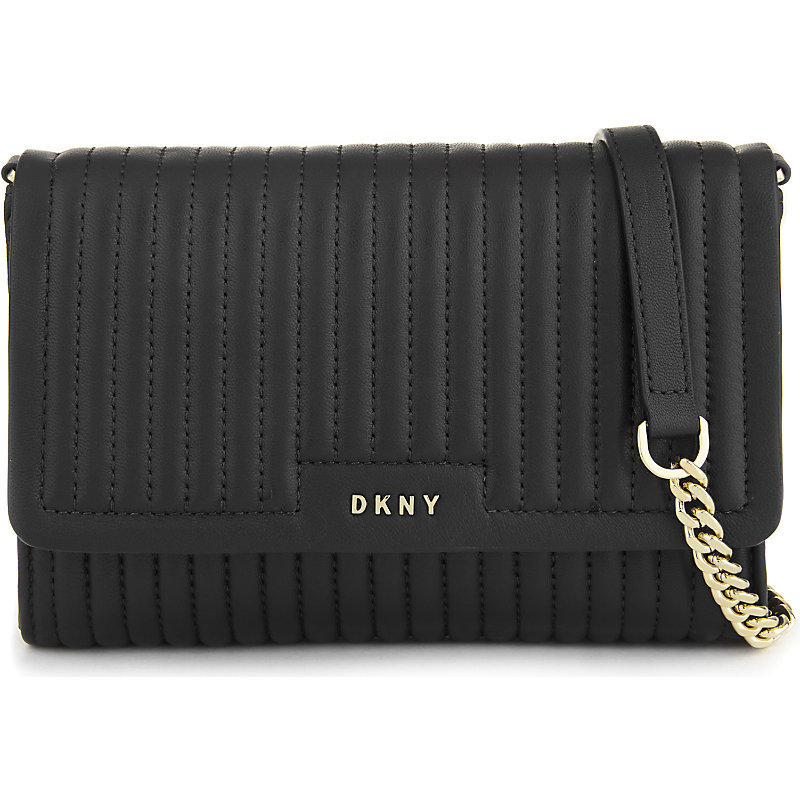 Gansevoort Quilted Leather Small Cross Body Bag, Women's, Size: Small, Black - predominant colour: black; occasions: casual; type of pattern: standard; style: messenger; length: across body/long; size: small; material: leather; embellishment: quilted; pattern: plain; finish: plain; season: s/s 2016; wardrobe: basic