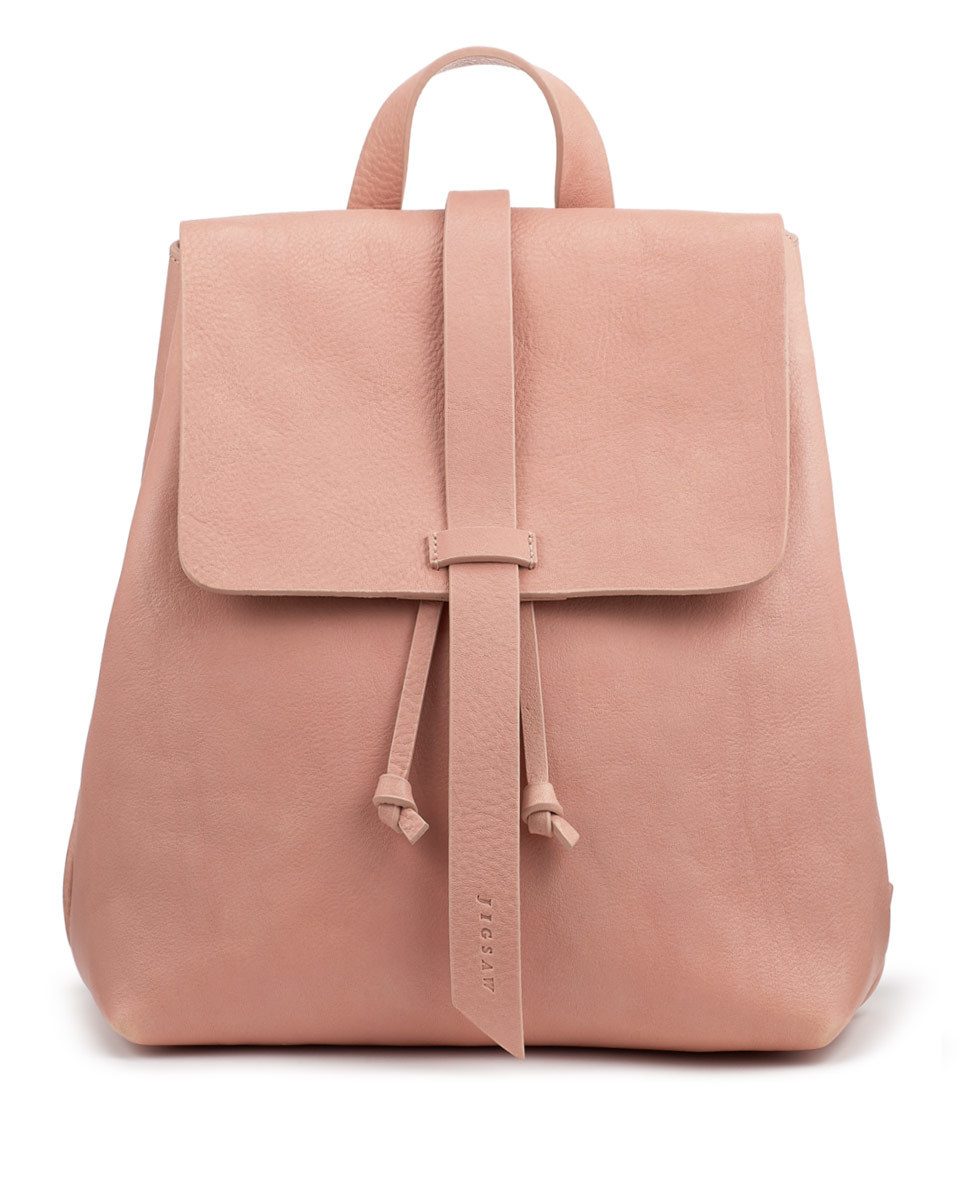 Blake Leather Backpack - predominant colour: blush; occasions: casual; type of pattern: standard; style: rucksack; length: rucksack; size: standard; material: leather; pattern: plain; finish: plain; season: s/s 2016; wardrobe: basic