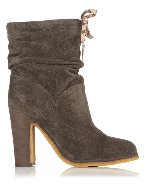 Jona Suede Ankle Boots - predominant colour: charcoal; occasions: casual; material: suede; heel height: high; heel: block; toe: pointed toe; boot length: ankle boot; style: standard; finish: plain; pattern: plain; season: s/s 2016; wardrobe: highlight