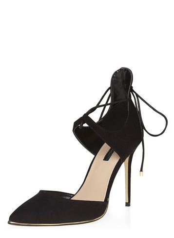 Womens Black 'ginah' Court Shoes Black - predominant colour: black; occasions: evening, occasion, creative work; material: suede; heel: stiletto; toe: pointed toe; style: courts; finish: plain; pattern: plain; heel height: very high; season: s/s 2016; wardrobe: highlight