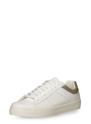 Womens Silver 'courtney' Trainers Silver - predominant colour: white; occasions: casual; material: faux leather; heel height: flat; toe: round toe; style: trainers; finish: plain; pattern: plain; season: s/s 2016; wardrobe: basic