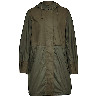 Mili Canvas Summer Parka, Dark Olive Night/Olive Night - pattern: plain; fit: loose; style: parka; back detail: hood; collar: high neck; length: mid thigh; predominant colour: khaki; occasions: casual; fibres: cotton - 100%; sleeve length: long sleeve; sleeve style: standard; texture group: technical outdoor fabrics; collar break: high; pattern type: fabric; season: s/s 2016; wardrobe: basic