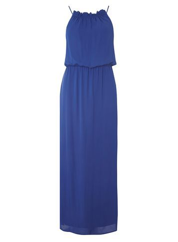 Womens Cobalt Chiffon Maxi Dress Cobalt - pattern: plain; sleeve style: sleeveless; style: maxi dress; length: ankle length; predominant colour: royal blue; occasions: evening; fit: body skimming; fibres: polyester/polyamide - stretch; neckline: crew; sleeve length: sleeveless; texture group: sheer fabrics/chiffon/organza etc.; pattern type: fabric; season: s/s 2016; wardrobe: event