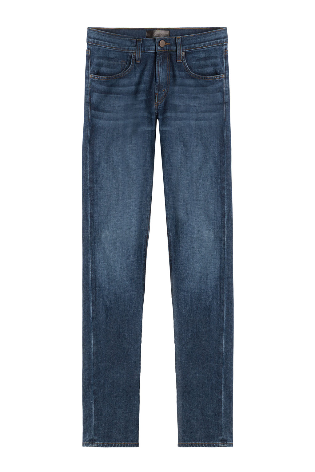 Straight Leg Jeans Blue - style: straight leg; length: standard; pattern: plain; pocket detail: traditional 5 pocket; waist: mid/regular rise; predominant colour: navy; occasions: casual; fibres: cotton - stretch; jeans detail: shading down centre of thigh; texture group: denim; pattern type: fabric; season: s/s 2016; wardrobe: basic