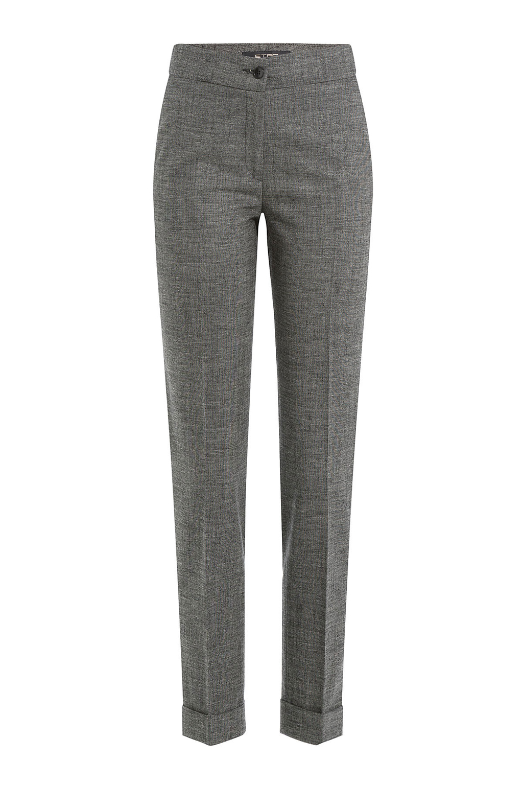 Wool Pants Grey - length: standard; waist: mid/regular rise; predominant colour: charcoal; occasions: work; fibres: cotton - mix; fit: straight leg; pattern type: fabric; texture group: woven light midweight; style: standard; pattern: marl; pattern size: light/subtle (bottom); season: s/s 2016; wardrobe: basic