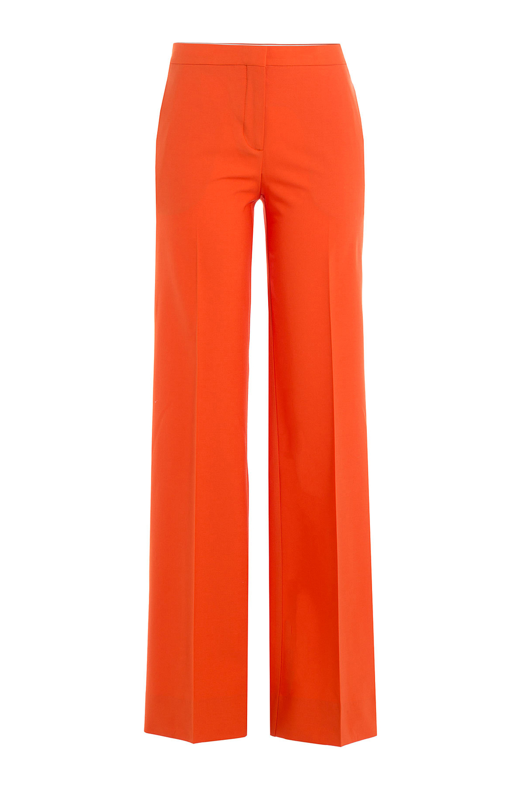 Wide Leg Wool Pants - length: standard; pattern: plain; style: palazzo; waist: mid/regular rise; predominant colour: bright orange; fibres: wool - mix; waist detail: feature waist detail; fit: wide leg; pattern type: fabric; texture group: woven light midweight; occasions: creative work; season: s/s 2016; wardrobe: highlight