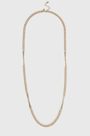Link Chain Long Necklace - predominant colour: gold; occasions: casual; length: long; size: standard; material: chain/metal; finish: metallic; season: s/s 2016; style: chain (no pendant)