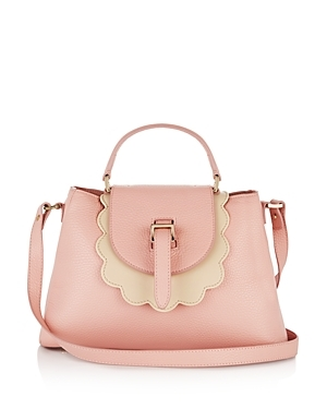 Flavia Double Flap Crossbody - predominant colour: blush; occasions: casual, creative work; type of pattern: standard; style: tote; length: handle; size: standard; material: leather; finish: plain; pattern: colourblock; season: a/w 2016; wardrobe: highlight