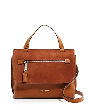Small The Waverly Top Handle Satchel - predominant colour: tan; occasions: casual, creative work; type of pattern: standard; style: satchel; length: handle; size: standard; material: leather; pattern: plain; finish: plain; season: a/w 2016