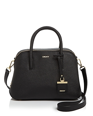 Small Bryant Park Satchel - predominant colour: black; occasions: casual, work, creative work; type of pattern: standard; style: tote; length: handle; size: standard; material: leather; pattern: plain; finish: plain; wardrobe: investment; season: a/w 2016