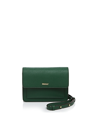 Bryant Park Saffiano Crossbody - predominant colour: dark green; occasions: casual, creative work; type of pattern: standard; style: messenger; length: across body/long; size: standard; material: leather; pattern: plain; finish: plain; season: a/w 2016; wardrobe: highlight