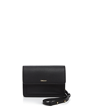 Bryant Park Saffiano Crossbody - predominant colour: black; occasions: casual, work, creative work; type of pattern: standard; style: messenger; length: across body/long; size: standard; material: leather; pattern: plain; finish: plain; wardrobe: basic; season: a/w 2016