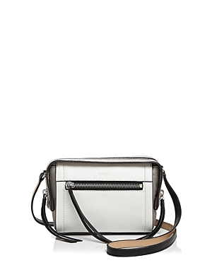 Small Crosby Ego Crossbody - predominant colour: white; secondary colour: black; occasions: casual, creative work; type of pattern: standard; style: messenger; length: across body/long; size: standard; material: leather; pattern: plain; finish: plain; wardrobe: basic; season: a/w 2016