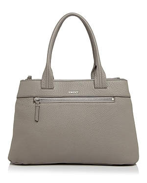 Tribeca Shopper Tote - predominant colour: light grey; occasions: casual, work, creative work; type of pattern: standard; style: tote; length: handle; size: standard; material: leather; pattern: plain; finish: plain; wardrobe: investment; season: a/w 2016