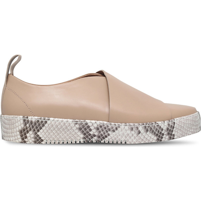 Ugee Leather Platforms, Women's, Eur 39.5 / 6.5 Uk Women, Beige - predominant colour: camel; occasions: casual, creative work; material: leather; heel height: flat; toe: round toe; style: flatforms; finish: plain; pattern: animal print; shoe detail: platform; season: a/w 2016; wardrobe: highlight