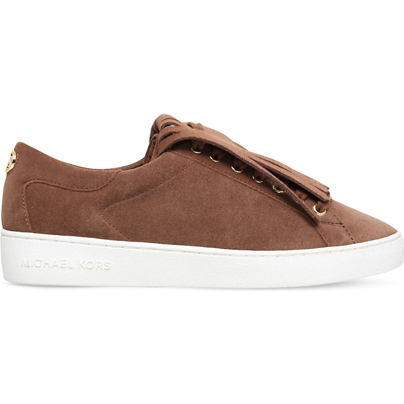 Keaton Kiltie Suede Trainers, Women's, Eur 40 / 7 Uk Women, Brown - predominant colour: chocolate brown; occasions: casual; material: suede; heel height: flat; toe: round toe; style: trainers; finish: plain; pattern: plain; embellishment: fringing; shoe detail: platform; season: a/w 2016; wardrobe: highlight