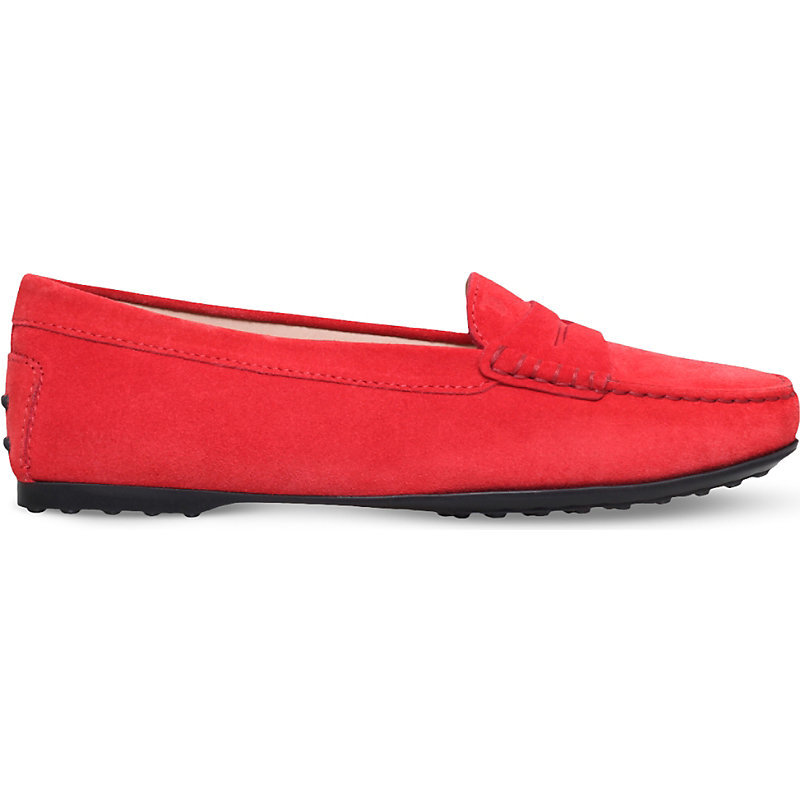 Gomma Lu Suede Moccasins, Women's, Eur 38 / 5 Uk Women, Orange - predominant colour: bright orange; occasions: casual, creative work; material: suede; heel height: flat; toe: round toe; style: moccasins; finish: plain; pattern: plain; season: a/w 2016; wardrobe: highlight