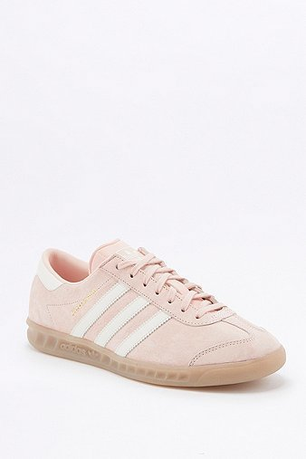 Hamburg Pink Gum Sole Trainers, Pink - predominant colour: blush; occasions: casual, activity; material: suede; heel height: flat; toe: round toe; style: trainers; finish: plain; pattern: plain; season: a/w 2016